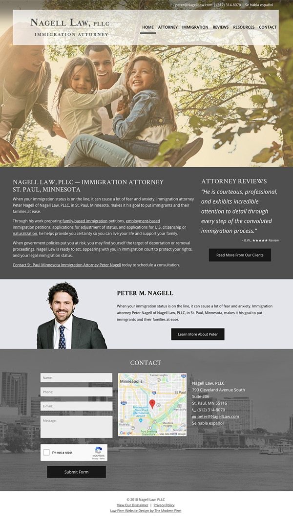 Law Firm Website Design for Nagell Law, PLLC