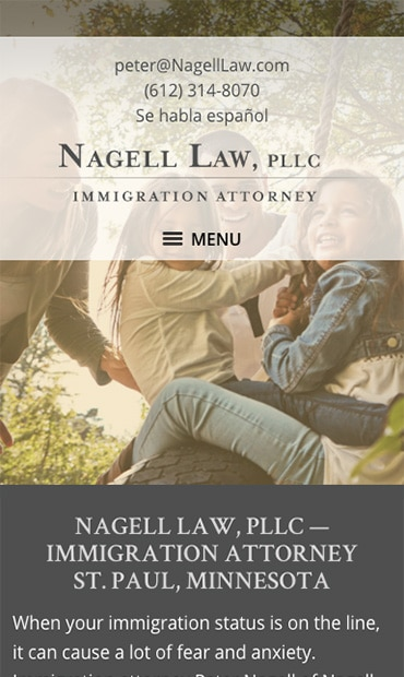 Responsive Mobile Attorney Website for Nagell Law, PLLC