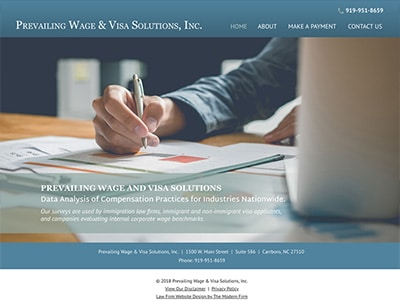Law Firm Website design for Prevailing Wage & Visa So…
