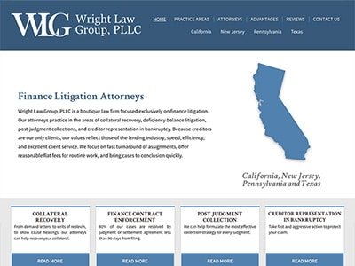 Law Firm Website design for Wright Law Group, PLLC