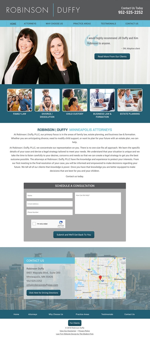 Law Firm Website Design for Robinson Duffy