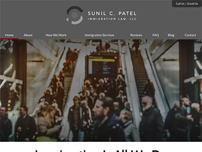 Law Firm Website design for Sunil C. Patel Immigratio…