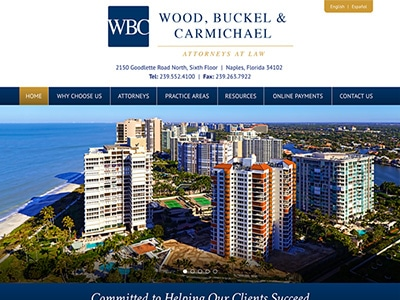 Law Firm Website design for Wood, Buckel and Carmicha…