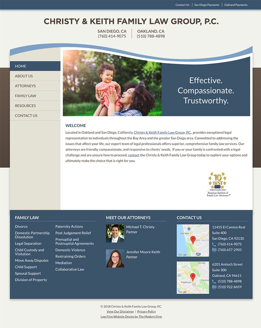Law Firm Website Design for Christy & Keith Family Law Group, P.C.