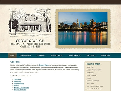 Law Firm Website design for Crowe & Welch