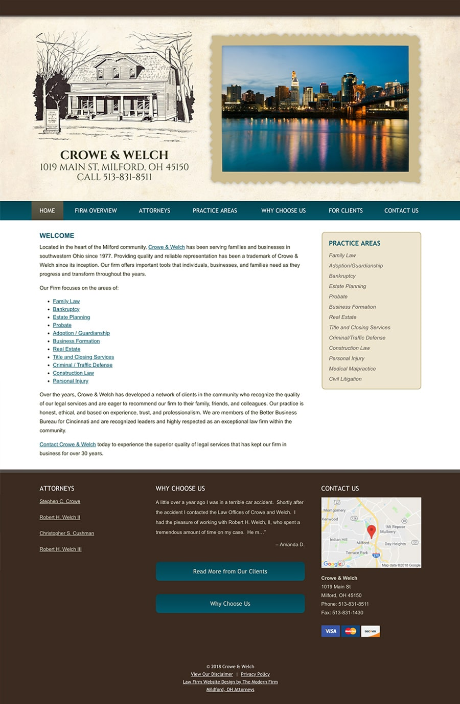 Oh Law Firm >> Milford Oh Law Firm Web Design By The Modern Firm