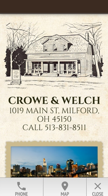 Responsive Mobile Attorney Website for Crowe & Welch