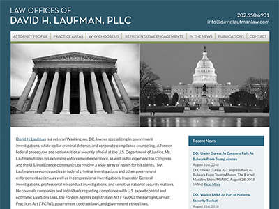 Law Firm Website design for Law Offices of David H. L…