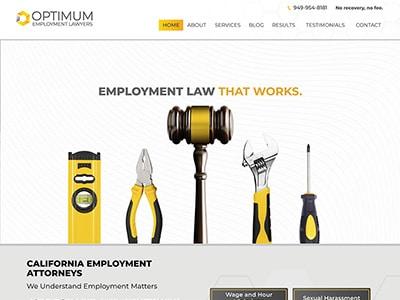 Law Firm Website design for Optimum Employment Lawyer…