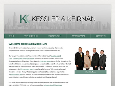 Law Firm Website design for Kessler & Keirnan, P.C.
