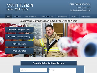 Law Firm Website design for Kevin T. Agin Law Office