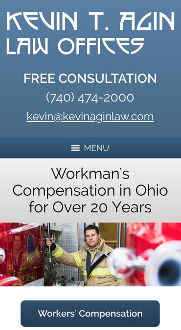 Responsive Mobile Attorney Website for Kevin T. Agin Law Office