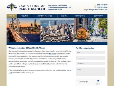 Law Firm Website design for Law Office of Paul F. Mah…
