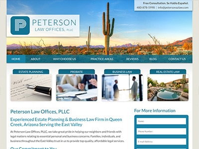 Website Design for Peterson Law Offices, PLL…