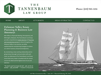 Law Firm Website design for The Tannenbaum Law Group,…