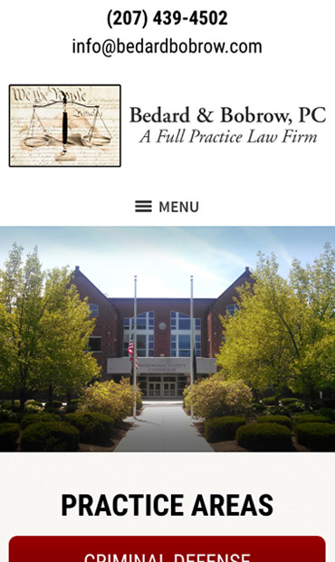 Responsive Mobile Attorney Website for Bedard & Bobrow, PC