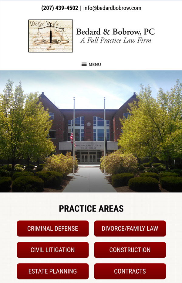 Mobile Friendly Law Firm Webiste for Bedard & Bobrow, PC