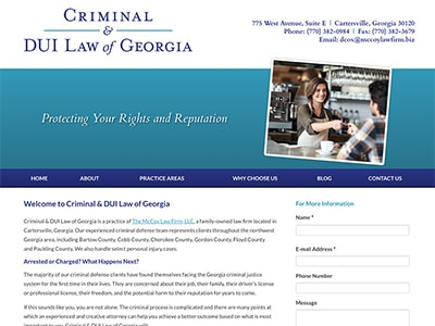 Law Firm Website design for Criminal & DUI Law of Geo…
