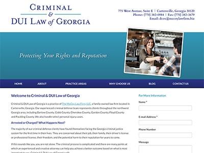 Law Firm Website design for Criminal & DUI Law of Geo…