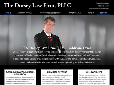 Law Firm Website design for The Dorsey Law Firm, PLLC