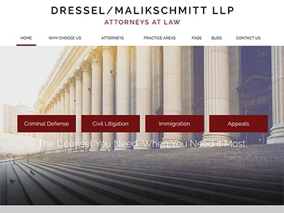 Law Firm Website design for Dressel/Malikschmitt LLP