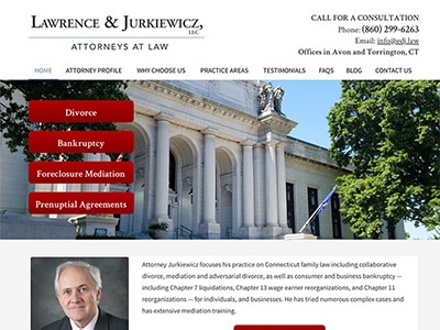 Law Firm Website design for Lawrence & Jurkiewicz, LL…