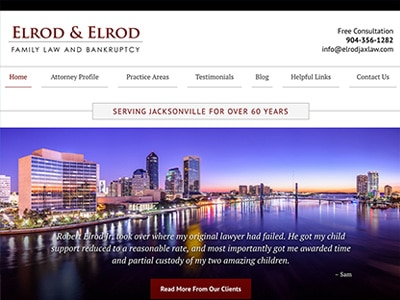 Law Firm Website design for Elrod & Elrod, P.A.