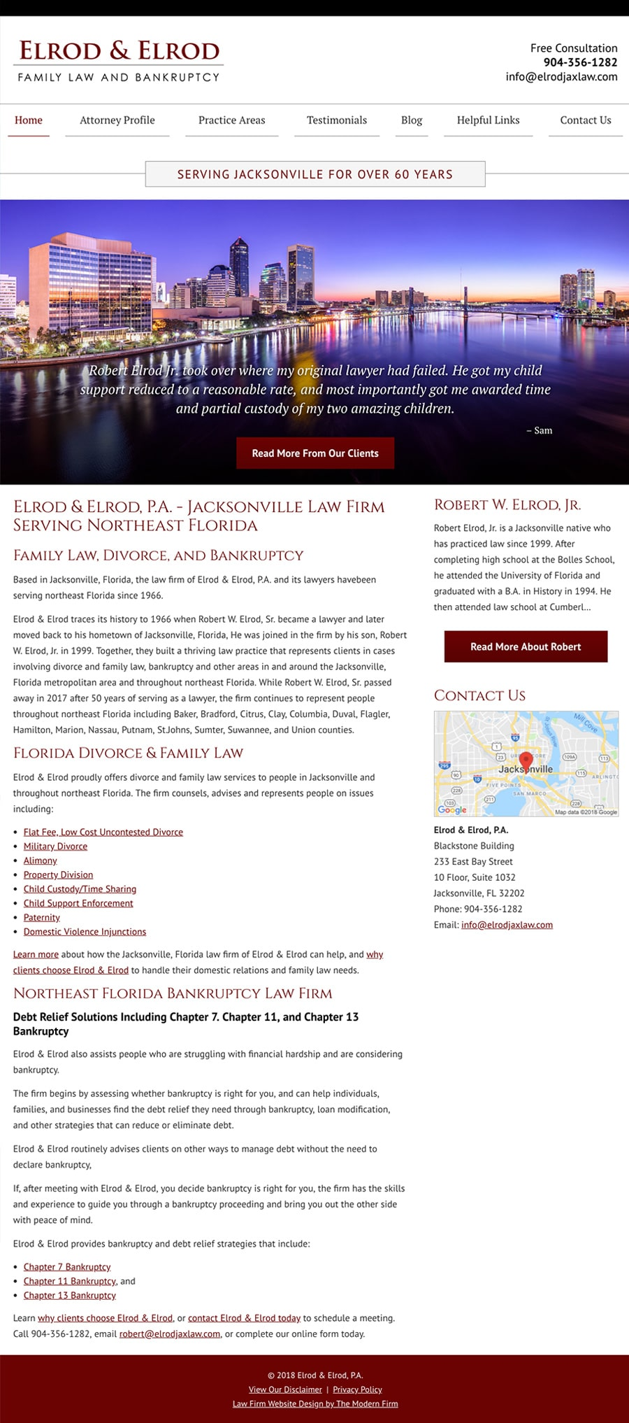 Law Firm Website for Elrod & Elrod, P.A.