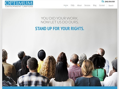 Law Firm Website design for Optimum Employment Lawyer…