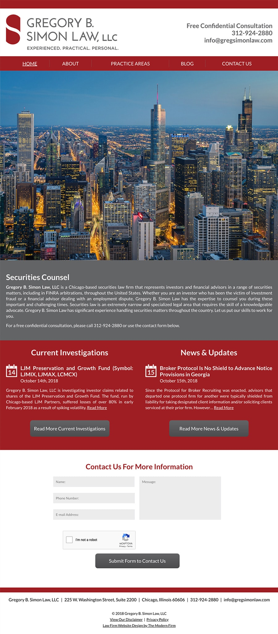 Law Firm Website Design for Gregory B. Simon Law, LLC