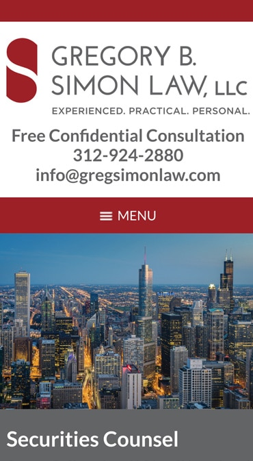 Responsive Mobile Attorney Website for Gregory B. Simon Law, LLC