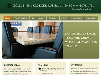 Law Firm Website design for Goldstine, Skrodzki, Russ…