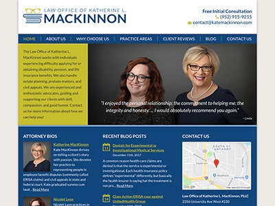 Law Firm Website design for Law Office of Katherine L…