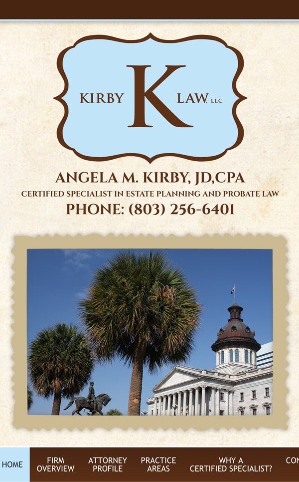 Mobile Friendly Law Firm Webiste for Kirby Law, LLC