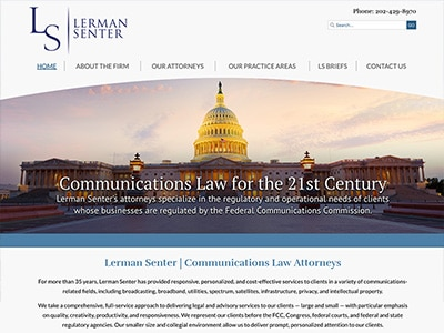 Law Firm Website design for Lerman Senter PLLC