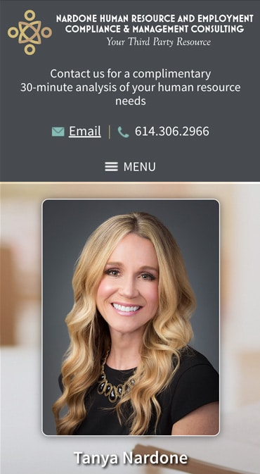 Responsive Mobile Attorney Website for Nardone HR & Management Consulting, LLC