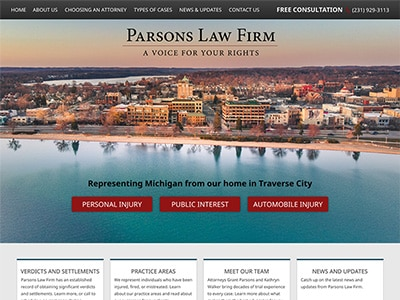Website Design for Parsons Law Firm PLC