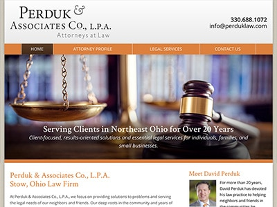 Law Firm Website design for Perduk & Associates Co.,…