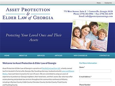Law Firm Website design for Asset Protection & Elder…