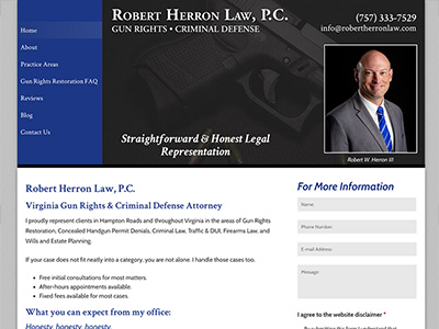 Law Firm Website design for Robert Herron Law, P.C.