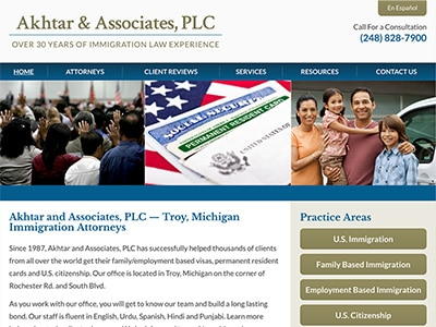 Law Firm Website design for Akhtar and Associates, PL…