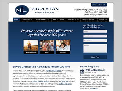 Law Firm Website design for Middleton Law Offices, Lt…