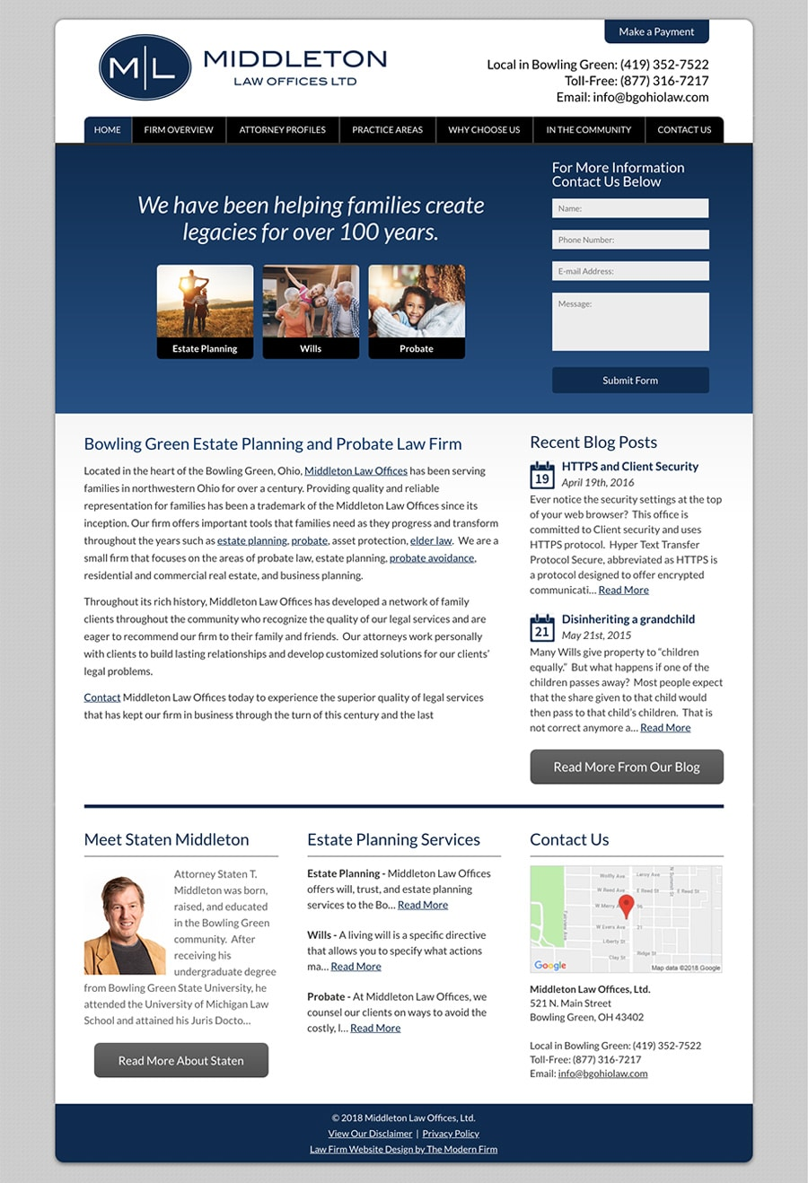 Law Firm Website Design for Middleton Law Offices, Ltd.