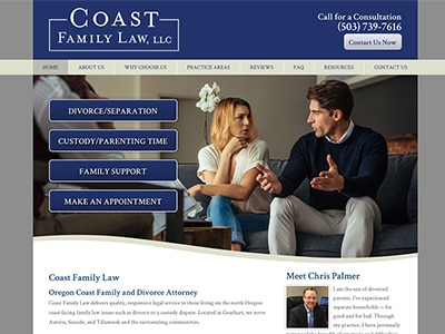 Website Design for Coast Family Law, LLC
