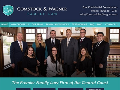Website Design for Comstock & Wagner