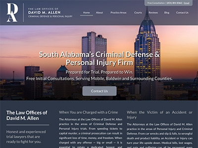 Law Firm Website design for The Law Offices of David…