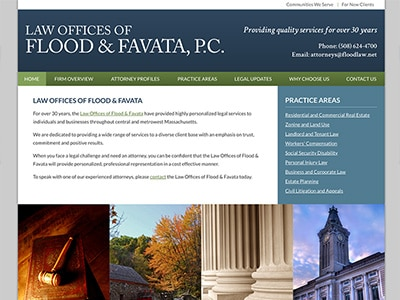 Law Firm Website design for Law Offices of Flood & Fa…