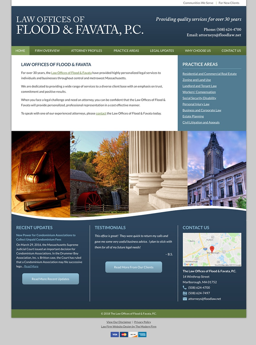 Law Firm Website Design for Law Offices of Flood & Favata