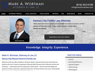 Law Firm Website design for Mark A. Wortman, Attorney…