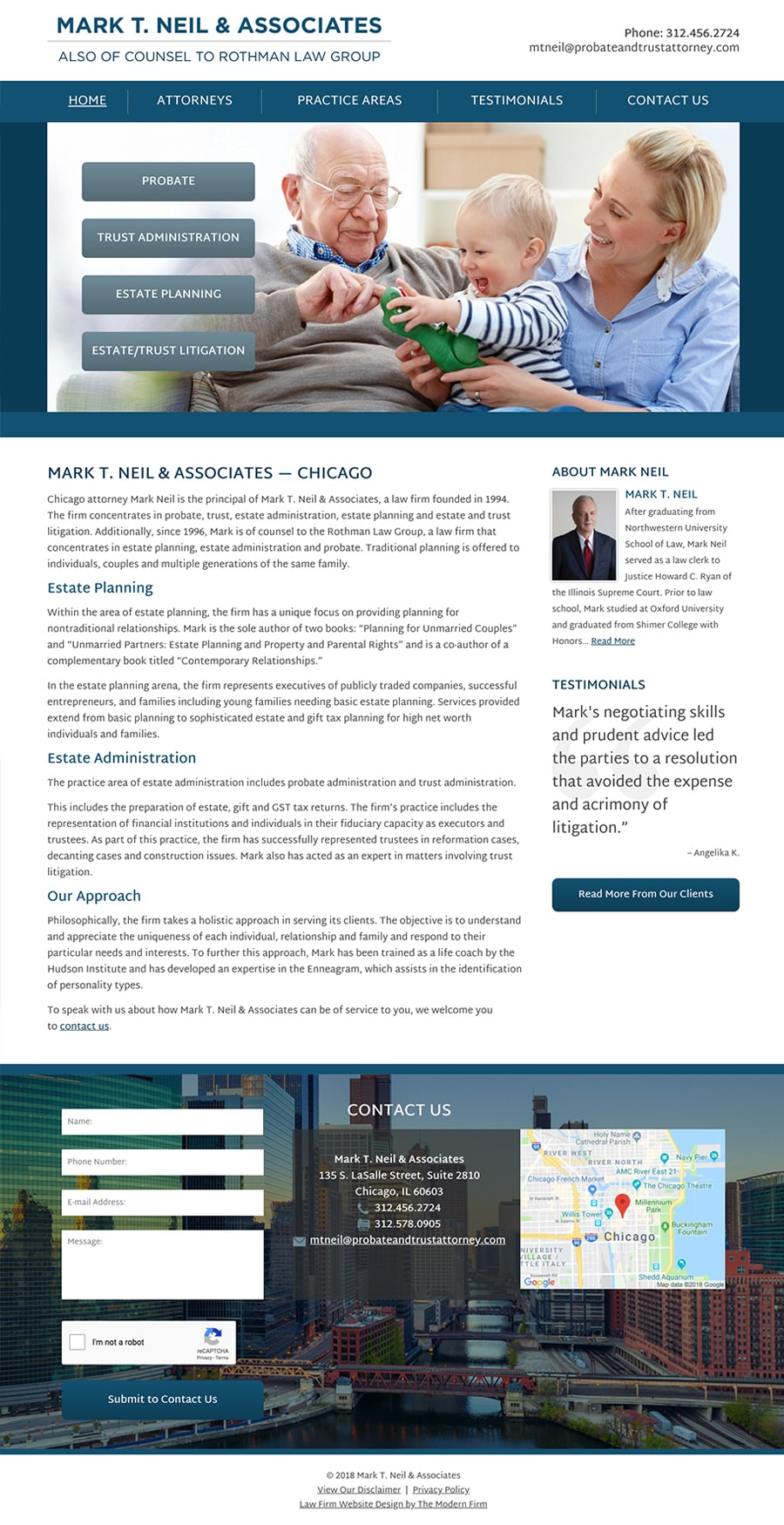 Law Firm Website for Mark T. Neil & Associates